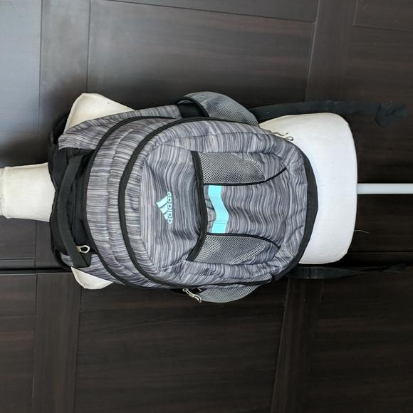 Adidas School Backpack Multiple Pockets Black Gray